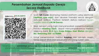 Ibadah Nuansa Pemuda Live Streaming 20 September 2020 GKJW Darmo Bahasa Indonesia #gkjwdarmo
