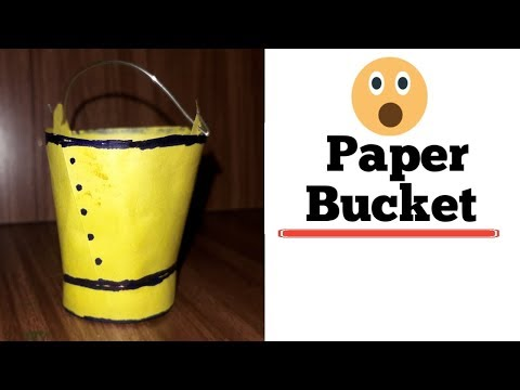How to make paper bucket for school project/easy paper craft for kids/kansal creation/school project