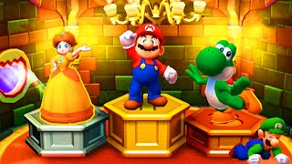 Mario Party: Star Rush Minigames - Mario vs Yoshi vs Daisy vs Luigi
