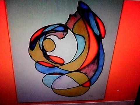 Figura maternal abstractos para el mes de las madres for Fotos de cuadros abstractos sencillos