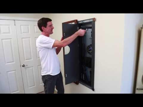 wall gun safe