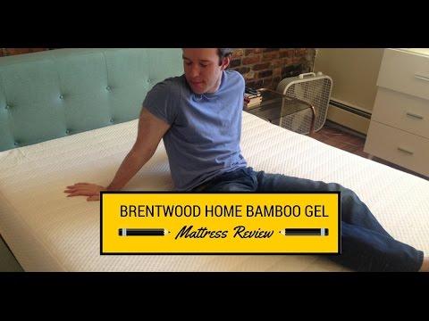 brentwood home bamboo gel 13 inch mattress review - Brentwood Mattress