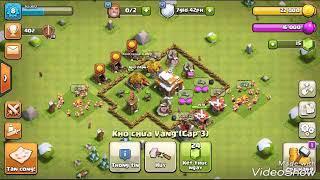 Clash of clans hack:100 p.e.k.k.a làng 1 vs làng hai