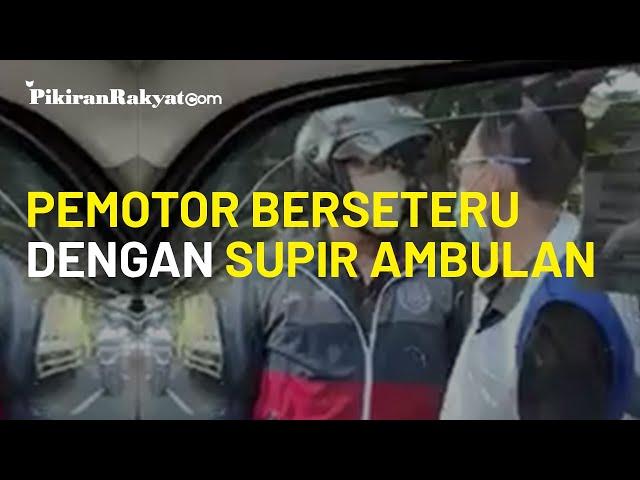 Viral, Pengendara Motor Hentikan Ambulance yang Bawa Pasien di Depok, Menolak Disusul?