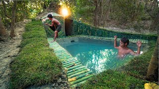 Build most mini swimming pool in front of the secret underground house