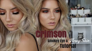Crimson Smokey Eye & Glowy Skin | Quickie Tutorial
