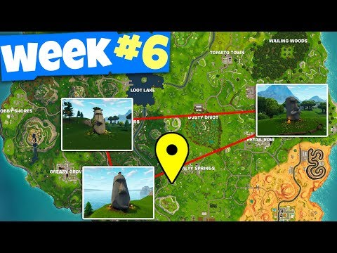 """Search Where The Stone Heads Are Looking"" - Fortnite WEEK 6 Challenges Guide"