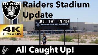 4K Las Vegas Raiders Stadium Construction Update: Back On Schedule! Way to go 3rd Shift