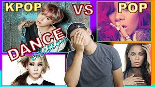 POP VS KPOP REACTION | DANCE BATTLE | CHOREOGRAPHY 2017