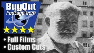 Ernest Hemingway  Journalist  Novelist  Sportsman  Stock Video
