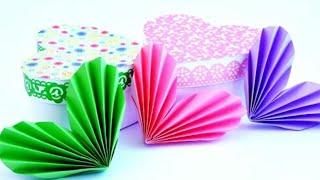 Оригами Сердечко/Как сделать красивое СЕРДЕЧКО из бумаги / Diy igeas