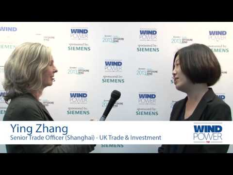 Ying Zhang, from UK Trade & Investment, interviewed at Offshore Wind 2013