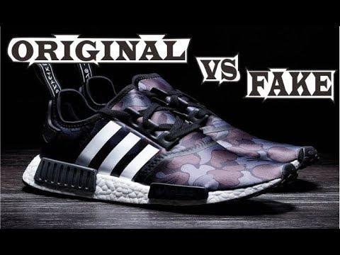 BAPE x Adidas NMD R1 Camo Black Original & Fake