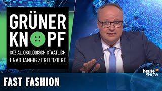 Grüner Knopf: Was sagt das neue Fairtrade-Gütesiegel über Kleidung aus? | heute-show vom 25.10.2019