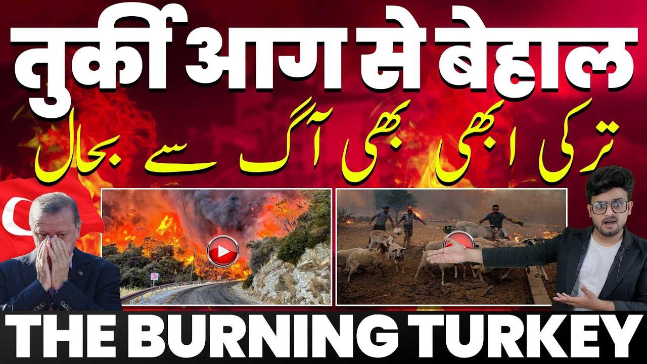 तुर्की आग में झुलसा, लगातार 8 दिन से जल रह है तुर्की, लोग बेघर, भारी नुक़सान #fire_in_turkey