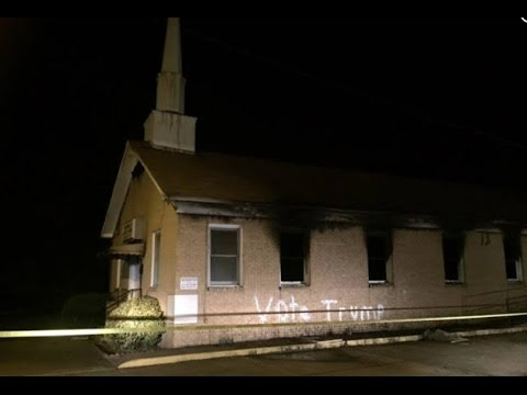 """Historic Black church burned and vandalized with """"Vote Trump"""""""