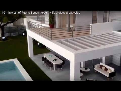 10 min west of Puerto Banus modern villa project, great value