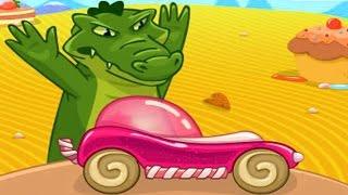 Мультфильм для детей про Игры и Машинки Гонки с Крокодилом