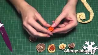 Розы из апельсинов. Как сделать розу из апельсиновых или мандариновых корок.(Из этого видео мастер класса вы узнаете как сделать розу из апельсиновых или мандариновых корок. Все мои..., 2014-12-19T03:36:03.000Z)