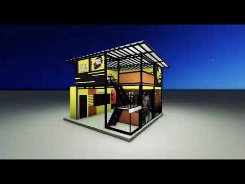 desain cafe 2 lantai minimalis - youtube
