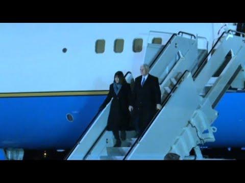 US VP Mike Pence arrives in Japan