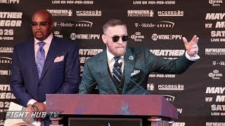 THE FULL FLOYD MAYWEATHER VS. CONOR MCGREGOR FINAL PRESS CONFERENCE VIDEO