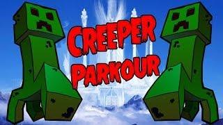 Паркур с Зелеными   Creeper Parkour Minecraft