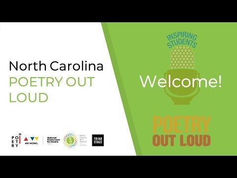 2018-2019 NC Poetry Out Loud Overview
