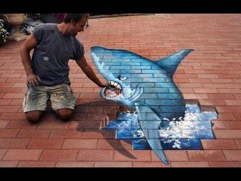 Best of 3D Street Art Illusion – Episode 7 – 3D Chalt Art from Douglas Rouse