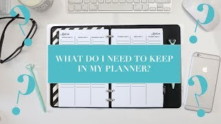 What Do I NEED In My Planner? The MUST-HAVES for Setting Up Your Planner
