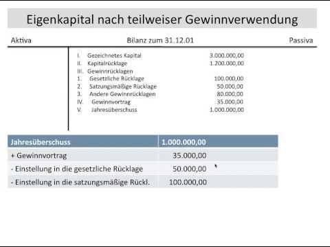 Gewinnverwendung einer AG, Gewinnrücklagen, Bilanzgewinn, Gewinnvortrag, Verlustvortrag (FOS / BOS)