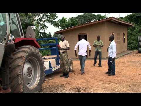 Lerstenshus i Ghana, Afrika, Clay Brick House