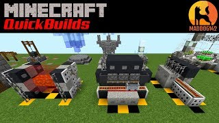 MINECRAFT QUICKBUILDS (Minecraft Creative Build) - Factory Machines