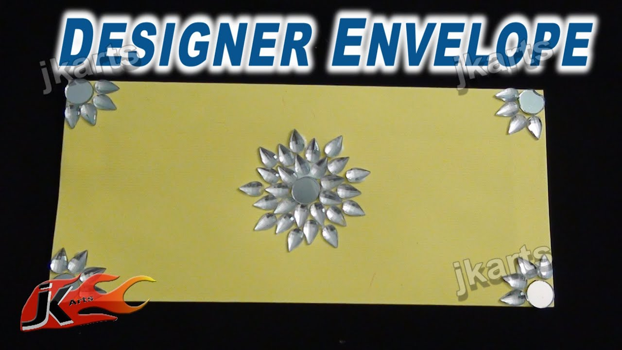 DIY Designer Envelope with Kundan 7 - JK Arts 229 - YouTube