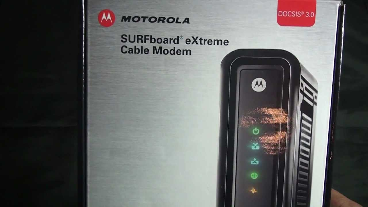 Motorola SURFboard Extreme Cable Modem (SB6121)!! - YouTube