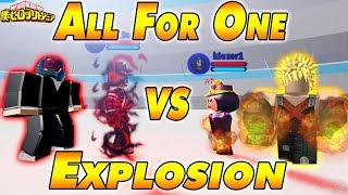 All For One VS Explosion ( All For One VS Explosion) Boku No Roblox Remasterizado