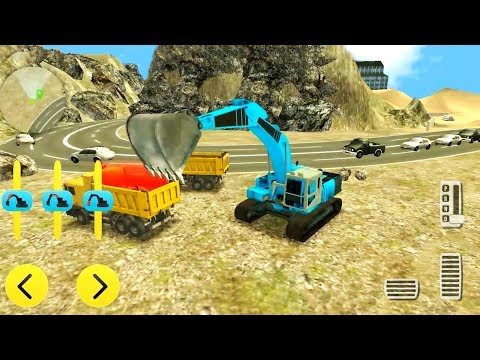Heavy Excavator Rock Mining 3D - Road Construction Simulator - Android Gameplay
