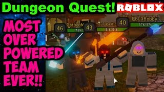 LEGENDARY TEAM BEATS WINTER OUTPOST BOSS!! (Dungeon Quest Roblox)