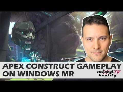 Apex Construct On Windows Mixed Reality - Samsung Odyssey Live Gameplay - Better than PSVR Version?