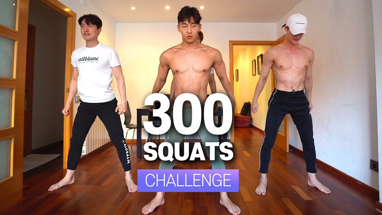 [EN] 스쿼트 300개 챌린지 (하루 12분💦)ㅣ 300 Reps SQUAT CHALLENGE (12 MINUTE💦)