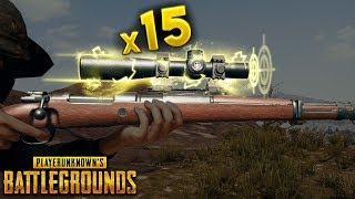 x15 SCOPE with Kar98k..!!!   Best PUBG Moments and Funny Highlights - Ep.120
