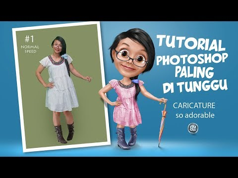 PHOTOSHOP ELEMENTS CARICATURE #1 how to make caricatur cute