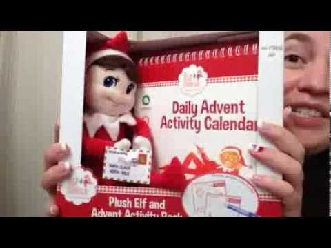 Un Boxing Of My Elf On The Shelf Boy Plush And Christmas Calendar