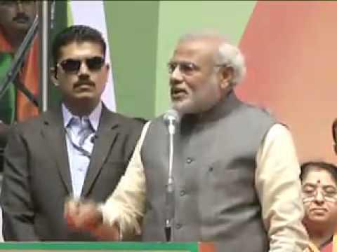 Shri Narendra Modi addressing BJP National Council Meet in Delhi