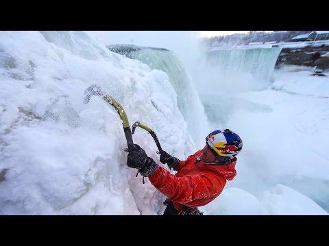 Ice Climbing Frozen Niagara Falls - Will Gadd