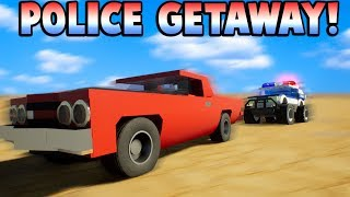 CANYON POLICE CHASE! - Brick Rigs Gameplay Multiplayer - Lego Cops and Robbers