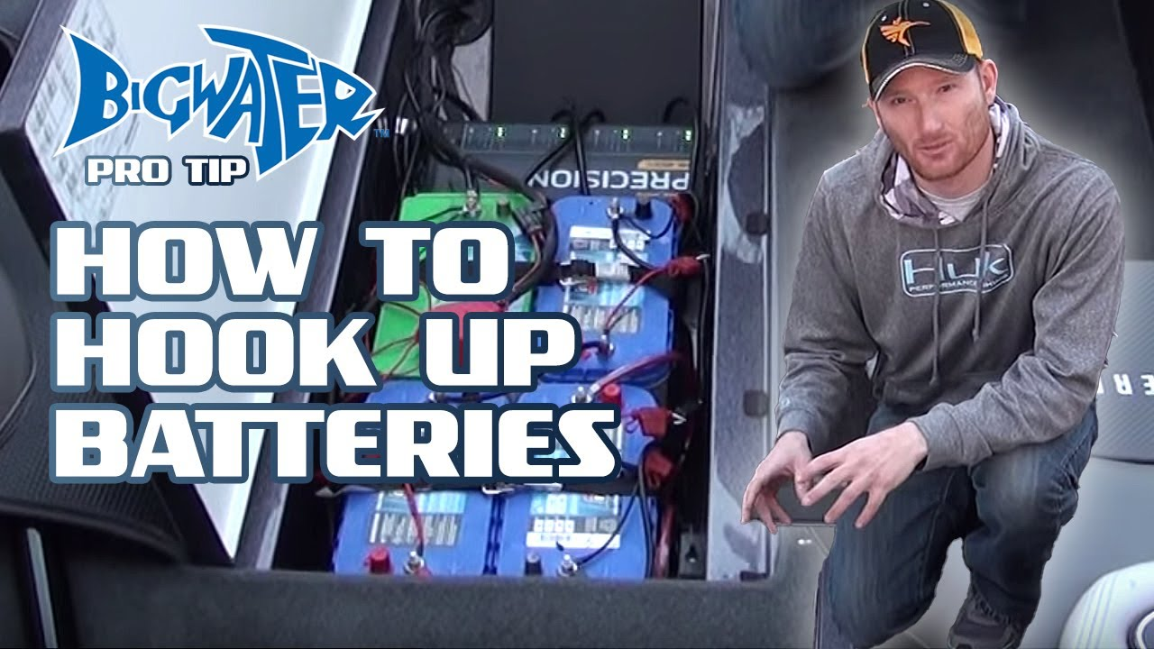 Hooking up batteries in your fishing boat  YouTube