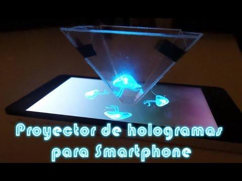 Como hacer un proyector de hologramas piramidal para el telefono movil, celular o smartphone