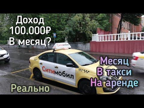 Месяц работы в такси Ситимобил на аренде. Выполнил цель 100тыс.руб.