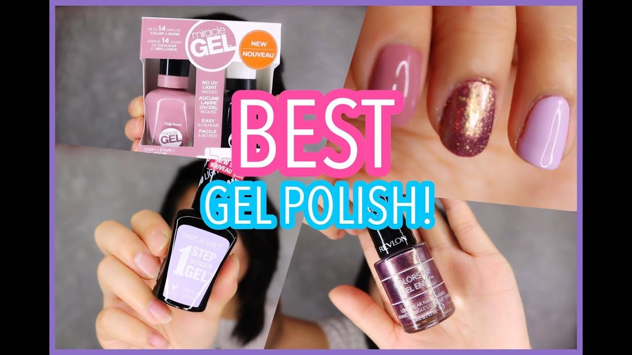 BEST DRUGSTORE GEL NAIL POLISH!? - YouTube